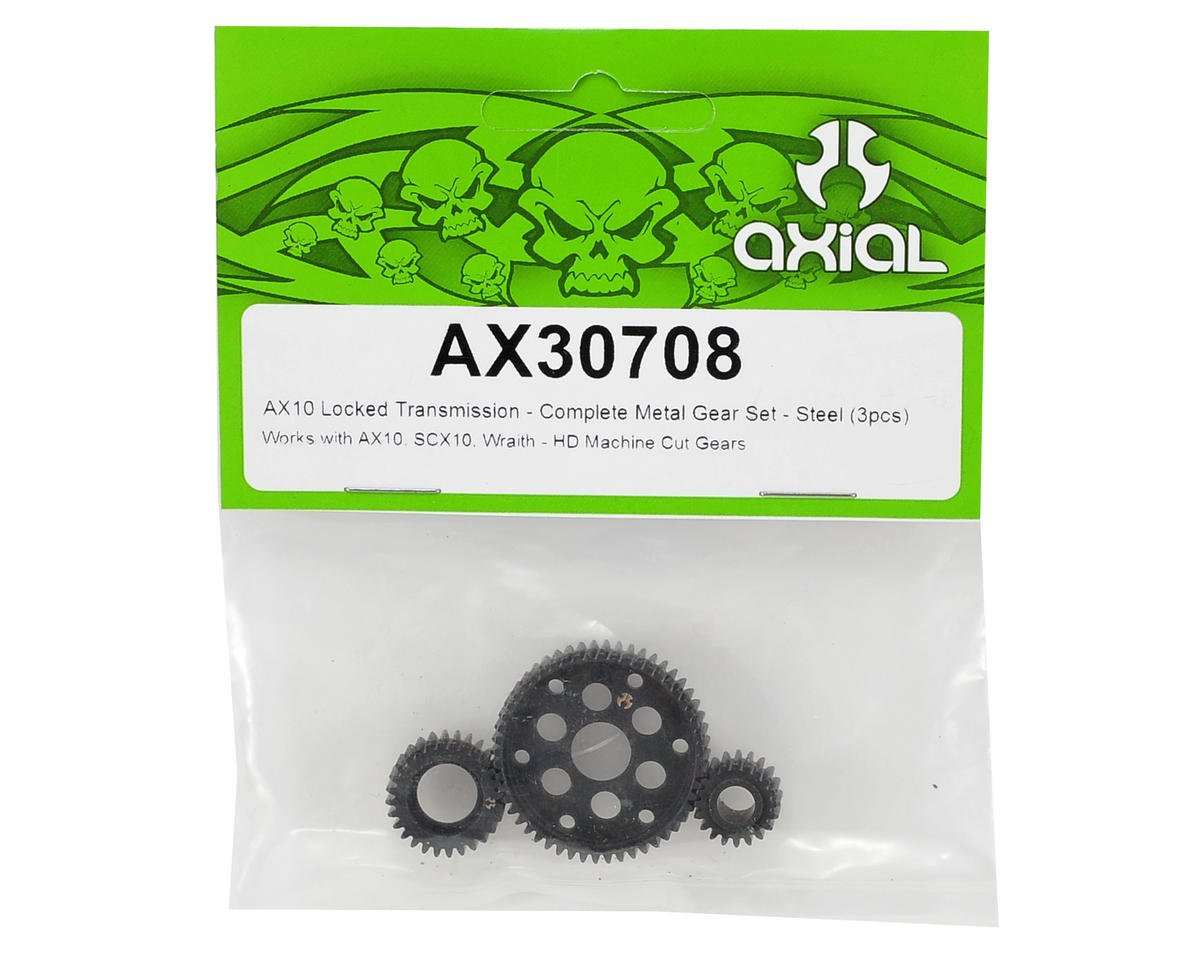 Axial Racing Steel Locked Transmission Gear Set (3)