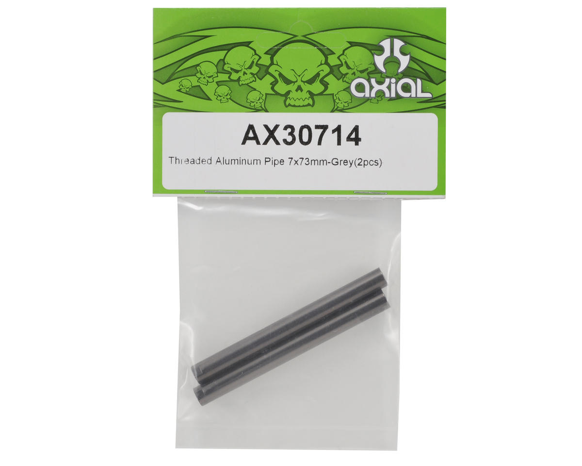 Axial Threaded Aluminum Pipe Set 7x73mm (Grey) (2)