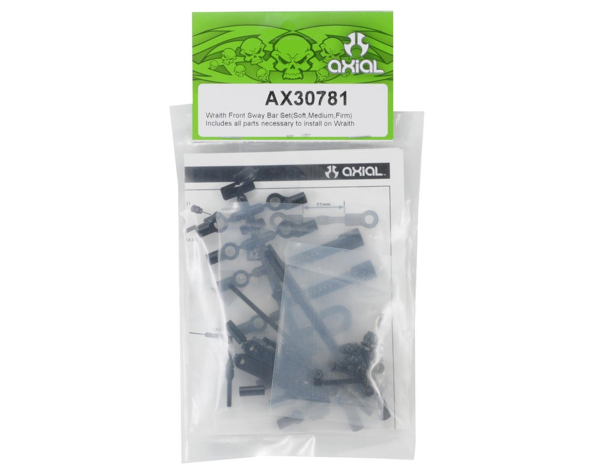 Axial Racing Front Sway Bar Kit (Soft, Medium, Firm)