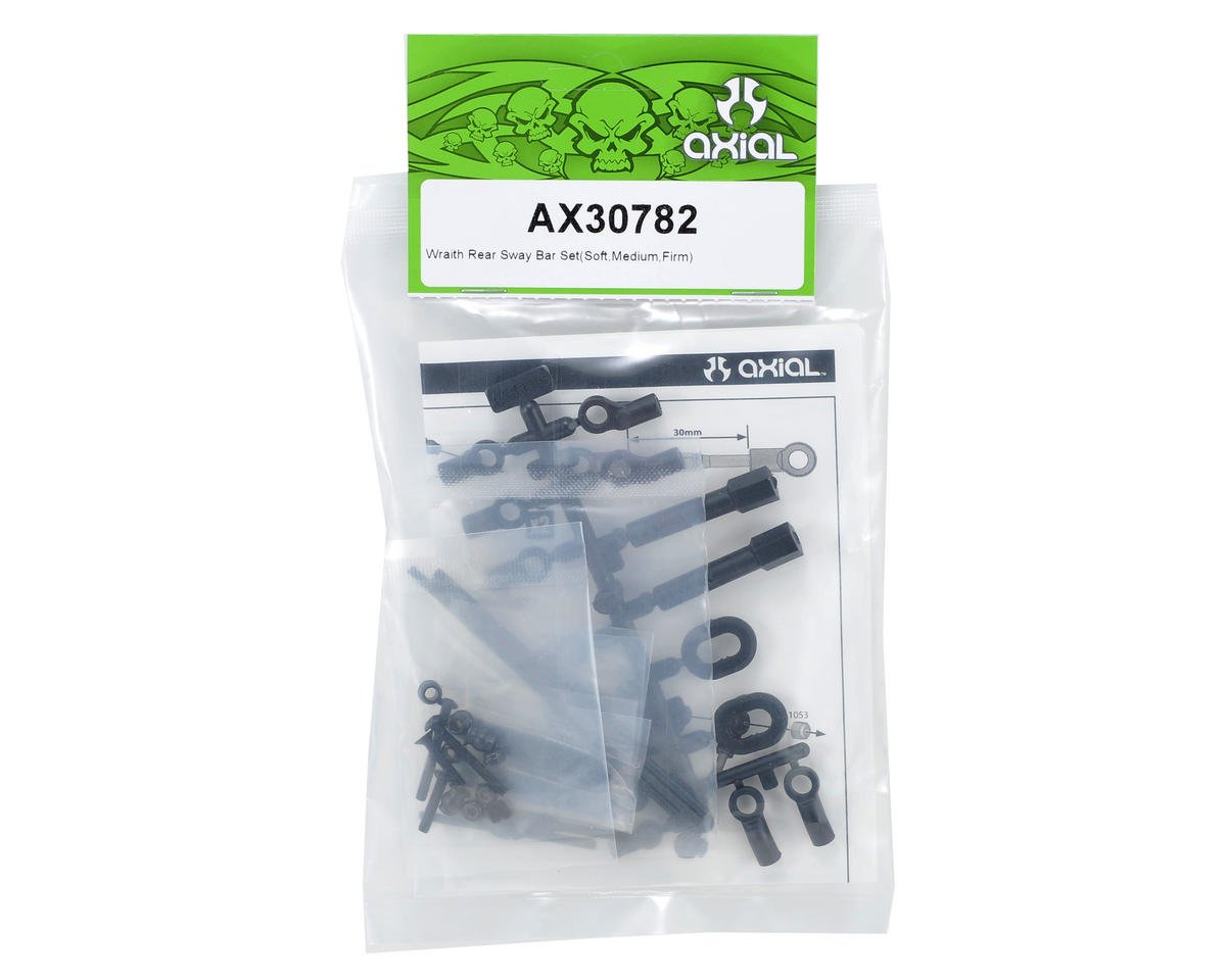 Rear Sway Bar Kit (Soft/Medium/Firm) by Axial