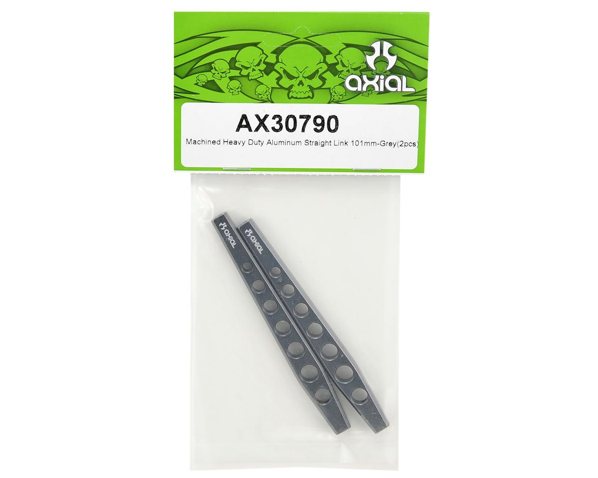 Axial Racing 101mm Machined Heavy Duty Aluminum Straight Link Set (Grey) (2)