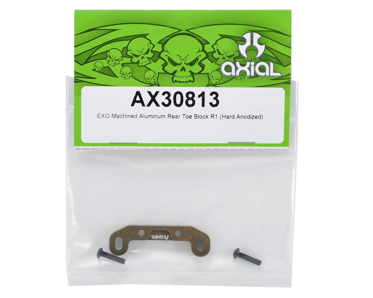 "Axial Racing Machined Aluminum ""R1"" Rear Toe Block (Hard Anodized)"