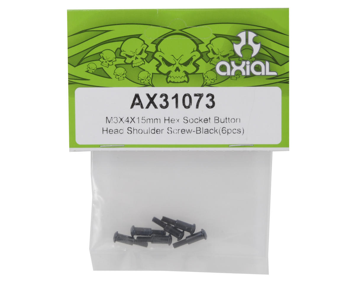 Axial Racing 3x4x15mm Button Head Hex Shoulder Screw (6)