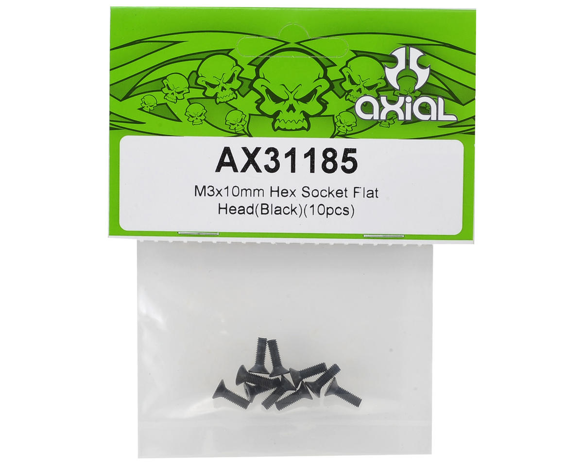 Axial Racing SMT10 M3x10mm Hex Socket Flat Head Screws (10)