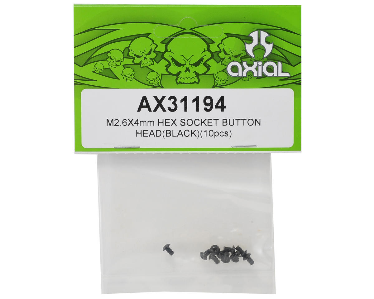 Axial Racing 2.6x4mm Button Head Hex Screw (10)