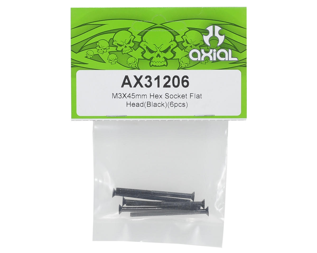 Axial Racing 3x45mm Flat Head Hex Screw (6)