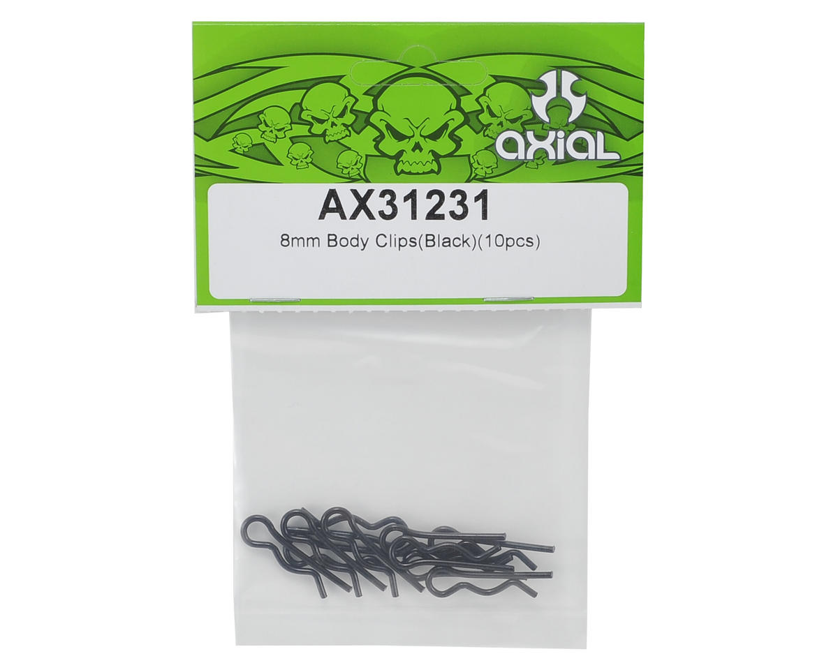 Axial 8mm Body Clip (Black) (10)