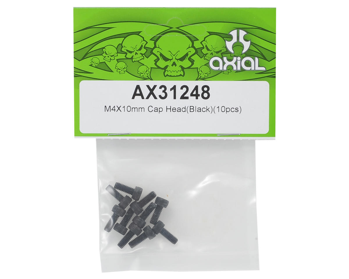 Axial 4x10mm Cap Head Hex Screw (Black) (10)