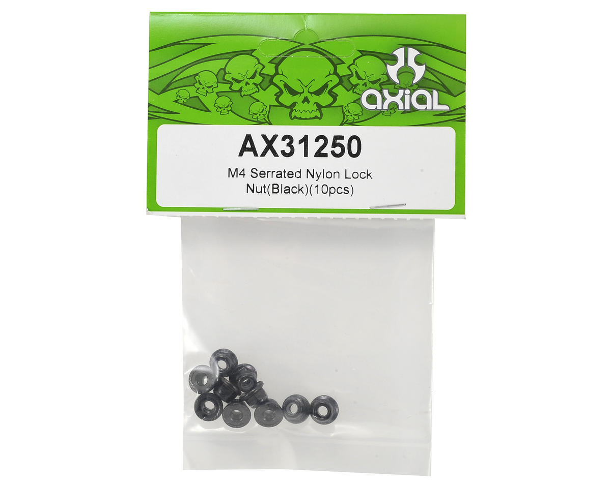 Axial 4mm Serrated Nylon Lock Nut (Black) (10)