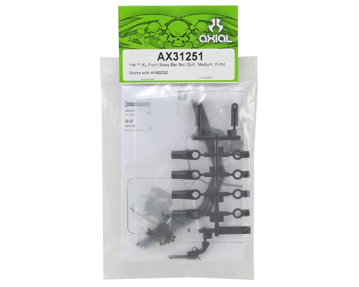 Axial Yeti XL Front Sway Bar Set