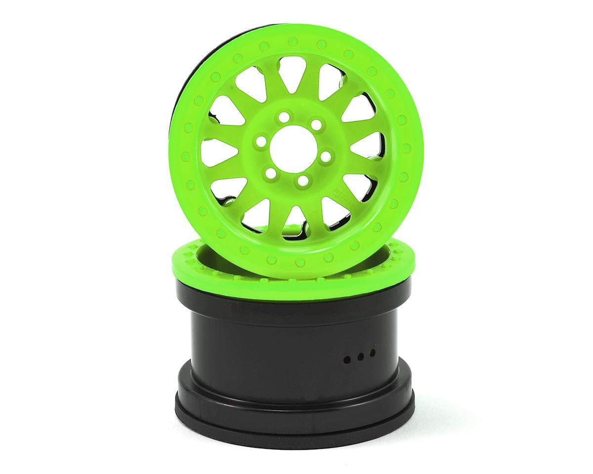 "Method IFD 2.2"" Beadlock Rock Crawler Wheels (2) (Green) by Axial"