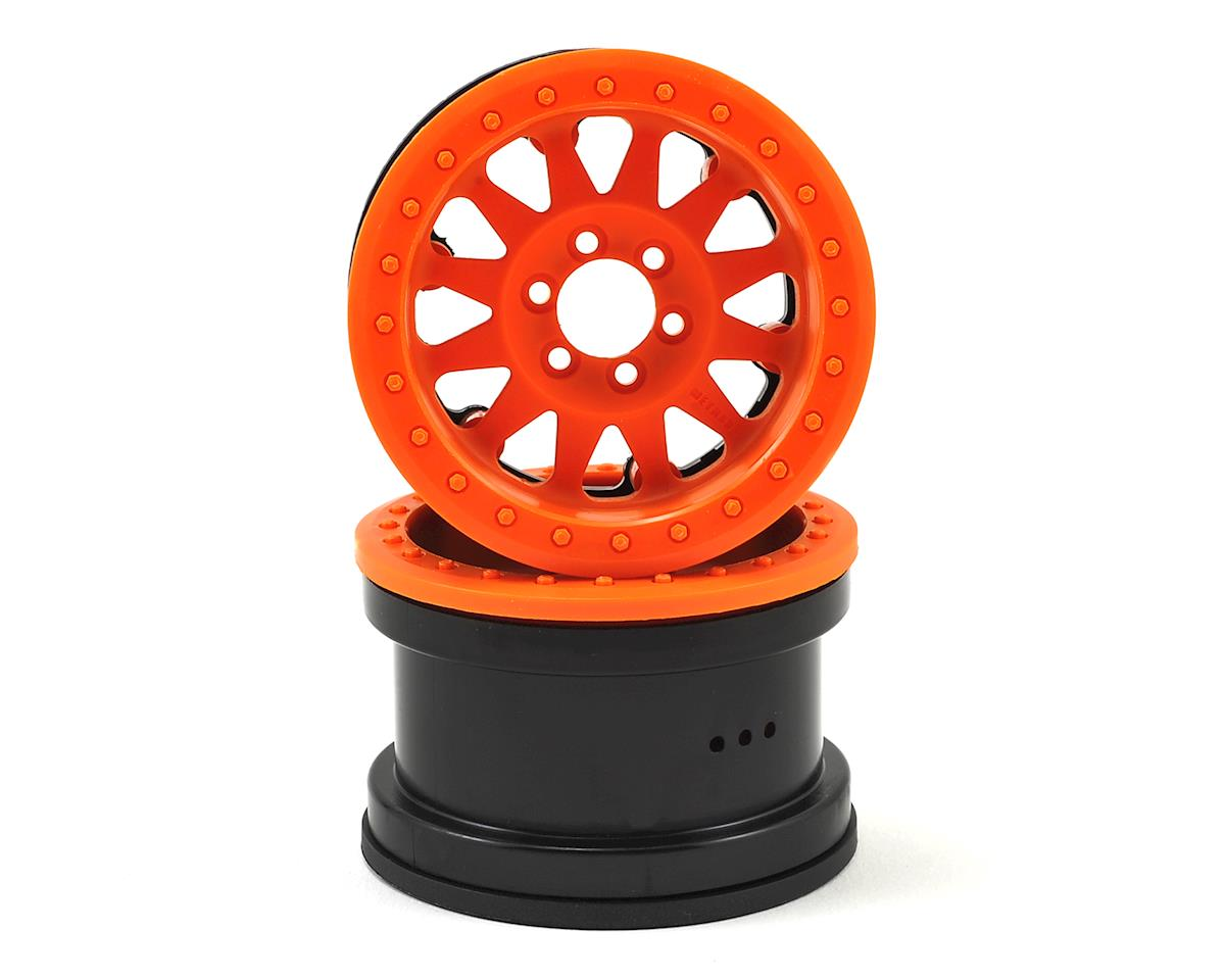 "Method IFD 2.2"" Beadlock Rock Crawler Wheels (2) (Orange) by Axial AX10 Racing"