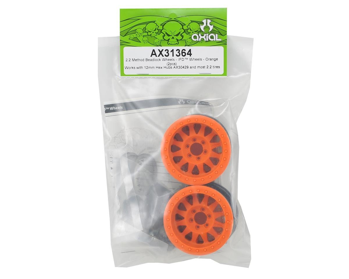 "Axial Racing Method IFD 2.2"" Beadlock Rock Crawler Wheels (2) (Orange)"