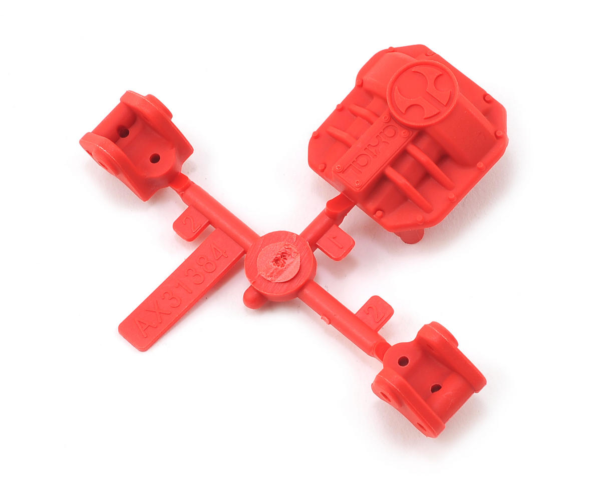 Axial Racing AR44 Differential Cover/Link Mount Set (Red)
