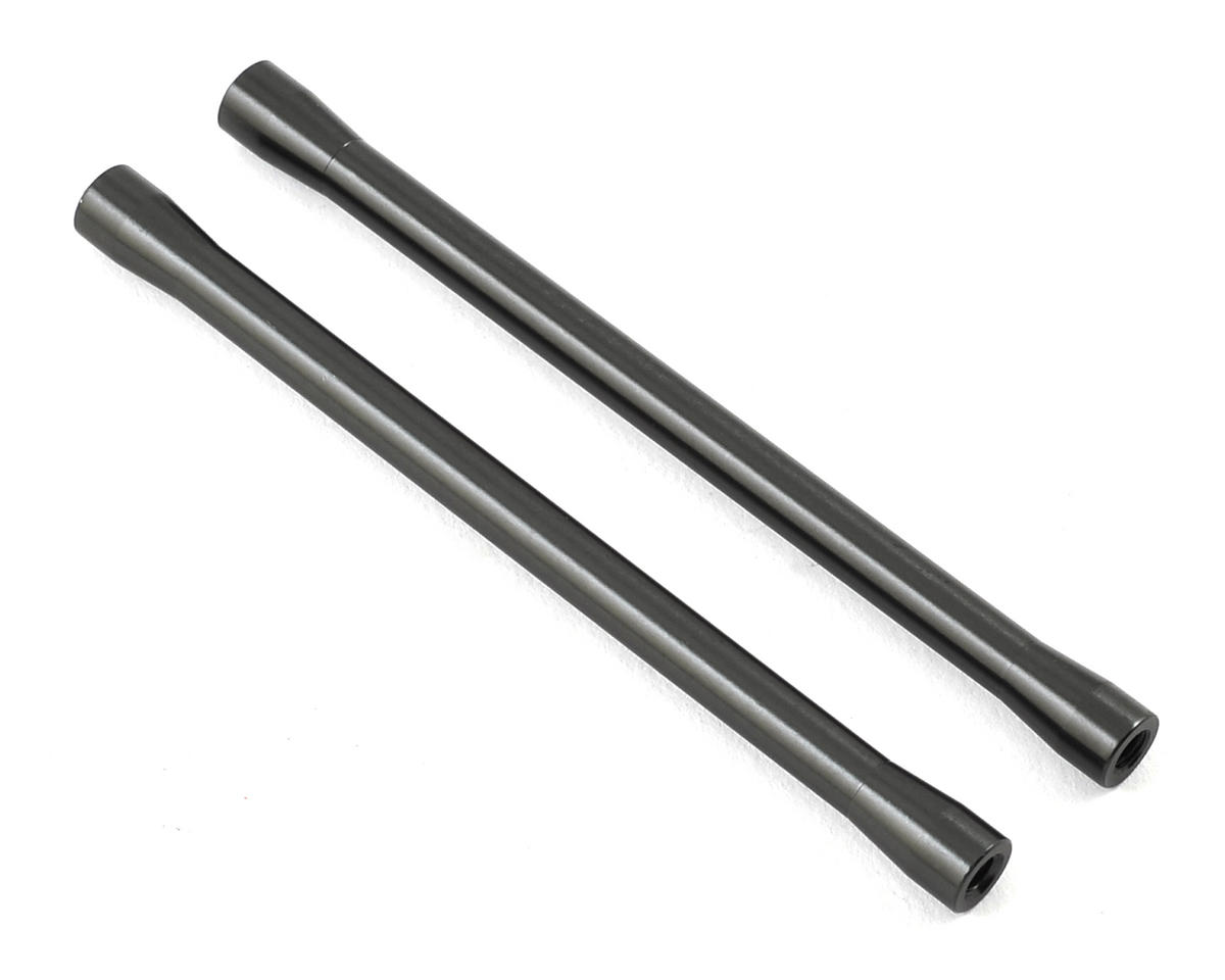 Axial Racing 7.5x101.5mm Aluminum Threaded Link (Grey) (2) (Hard Anodzied)