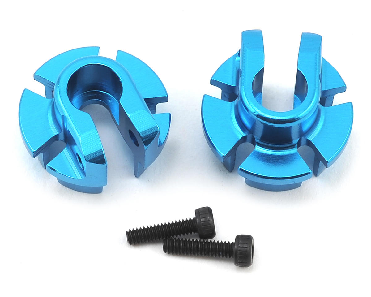 Axial Racing 12mm Aluminum Shock Spring Retainer (Blue) (2)