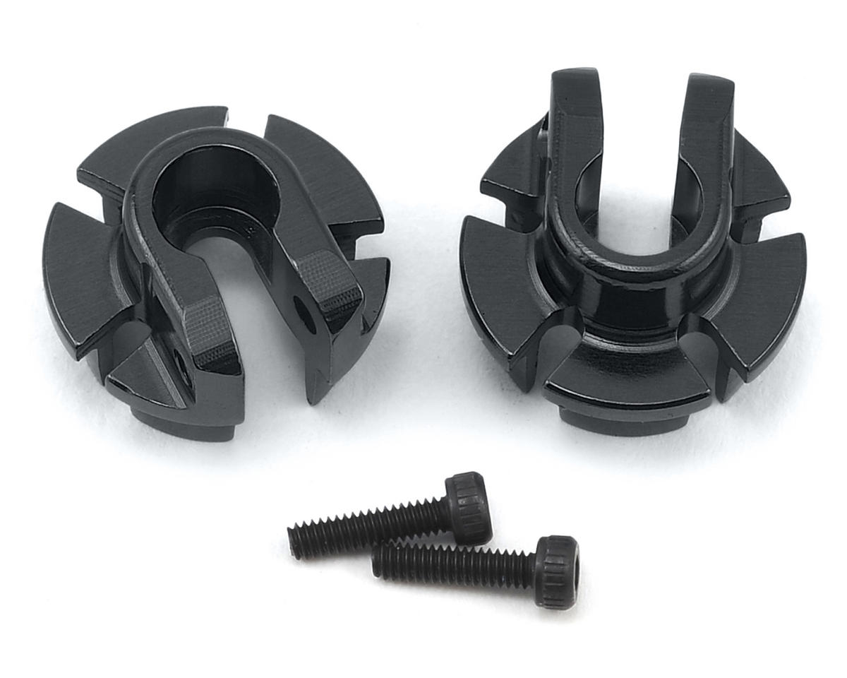 Axial 12mm Aluminum Shock Spring Retainer (Black) (2)