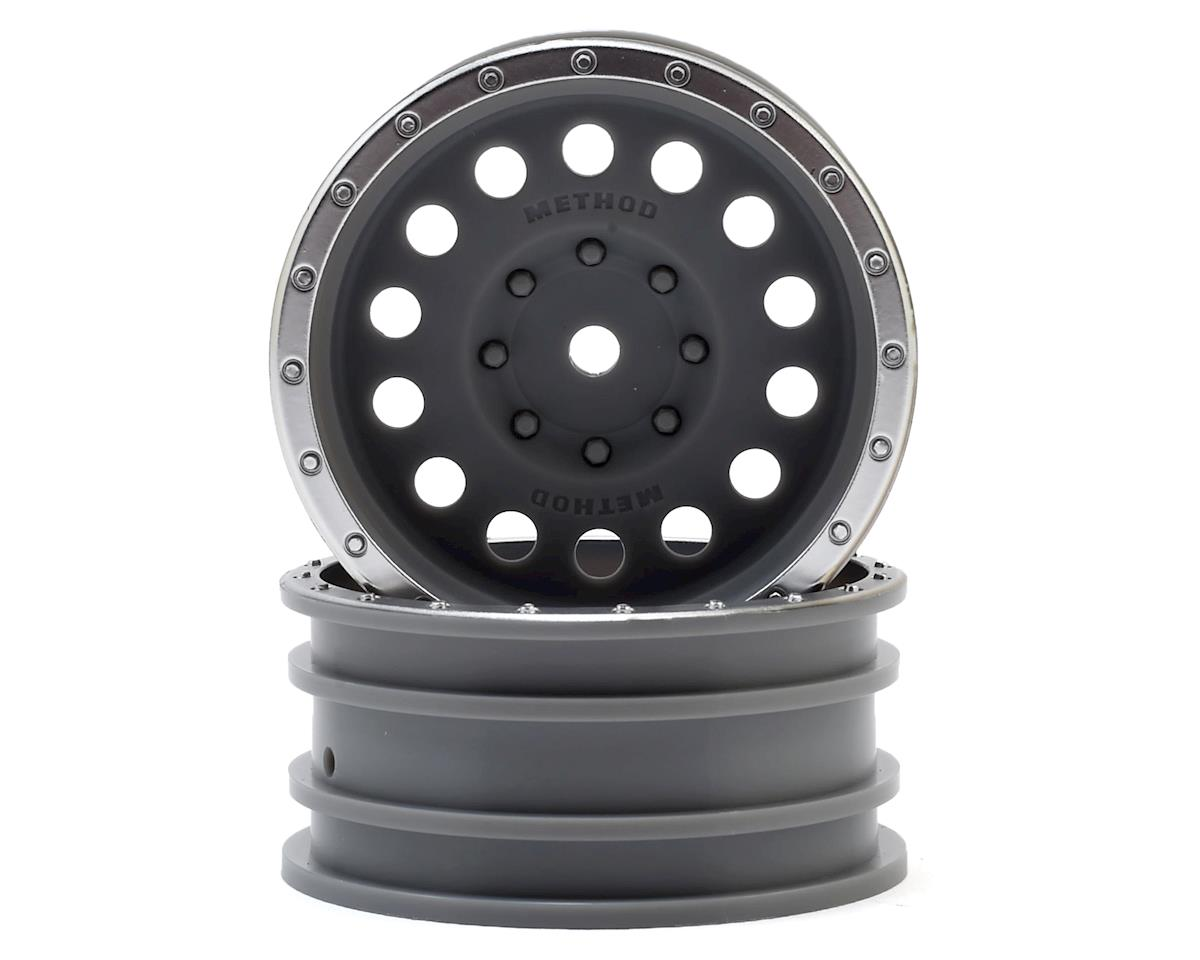 Axial Method MR307 Hole 1.9 Rock Crawler Wheels (Grey/Chrome) (2)
