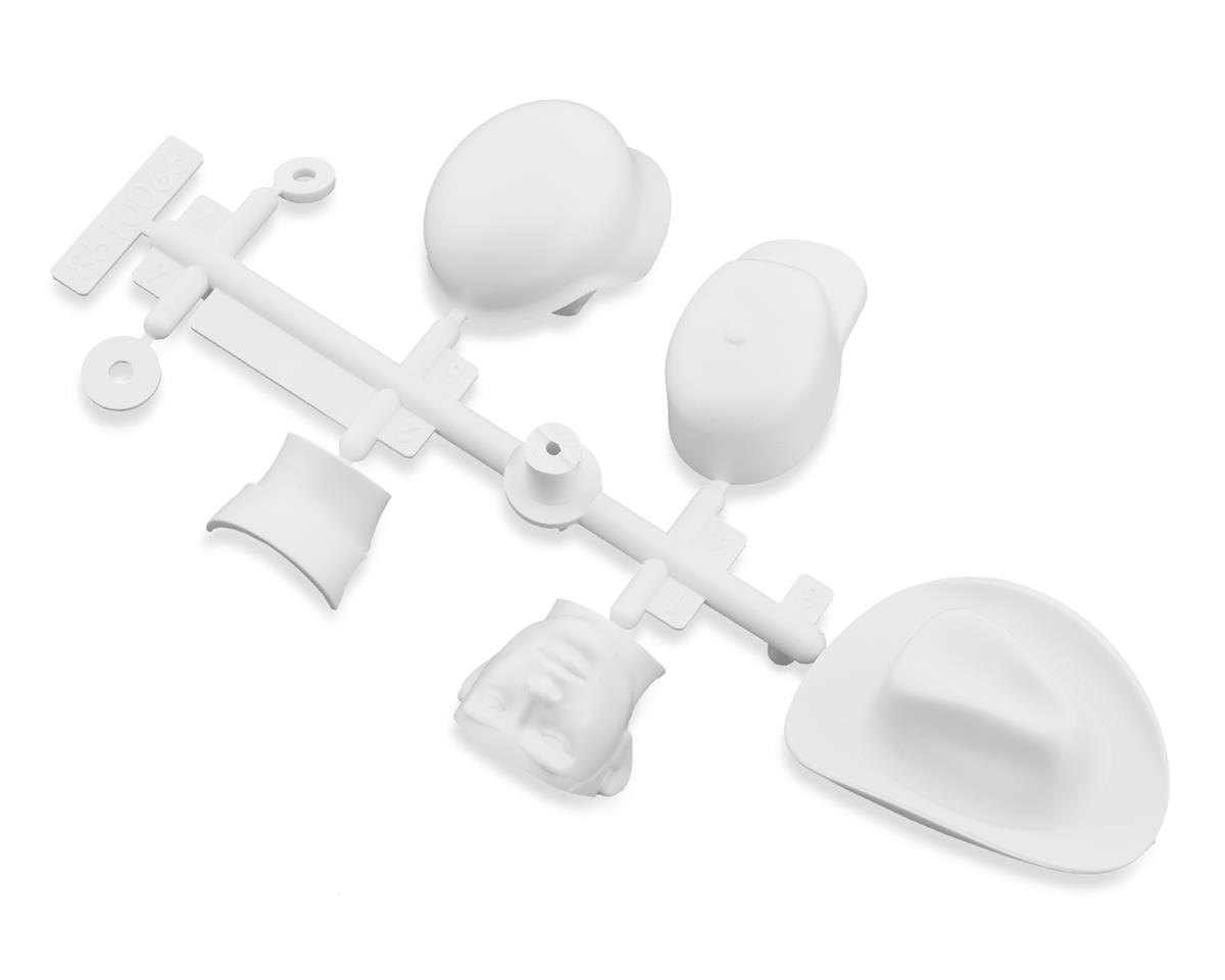 Axial SCX10 III Drivers Head & Hat Set (White)