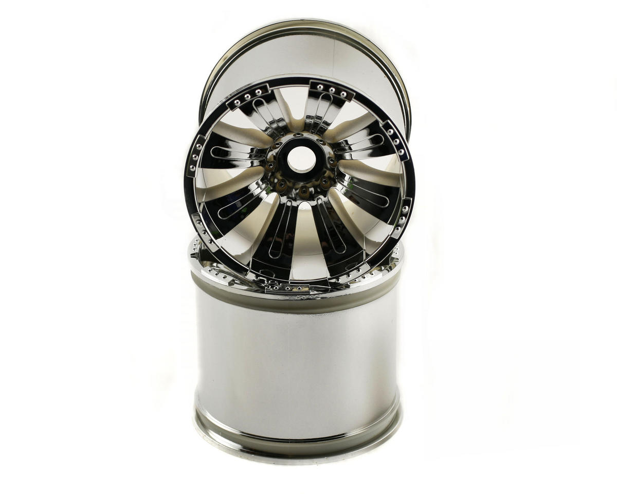 Image 1 for Axial 8 Spoke Oversize Monster Truck Wheel (2) (Chrome)
