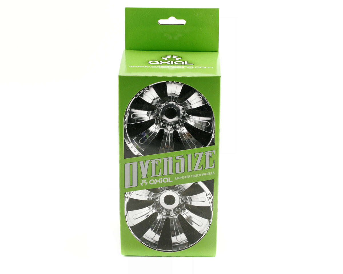 Image 2 for Axial 8 Spoke Oversize Monster Truck Wheel (2) (Chrome)