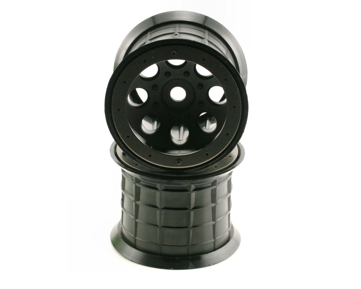 Axial 8 Hole Beadlock Monster Truck Wheel (2) (Black)