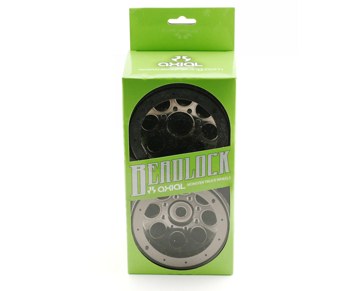Axial Racing 8 Hole Beadlock Monster Truck Wheel (2) (Black Chrome)