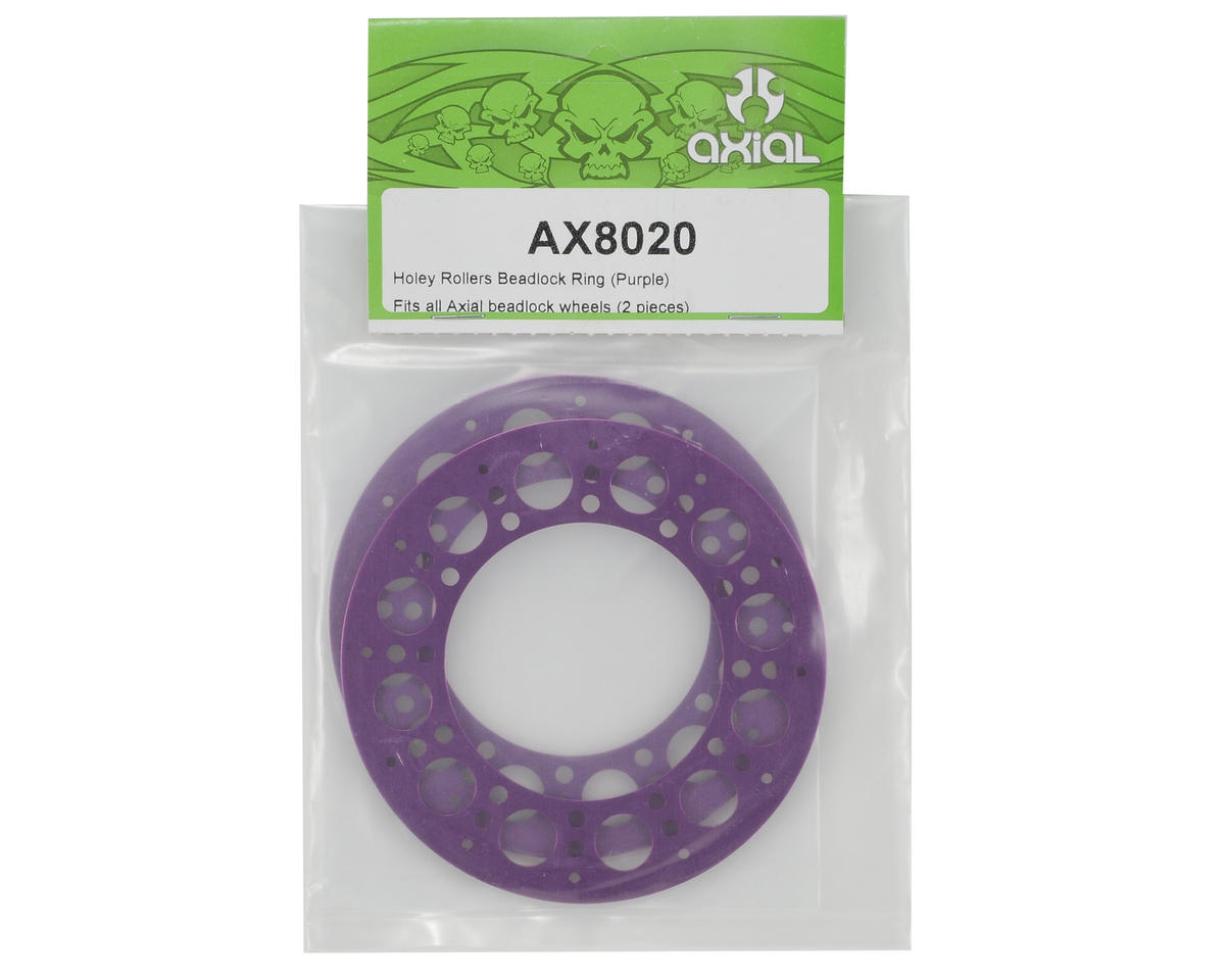 Axial Racing Holey Rollers Beadlock Rings (Purple) (2)