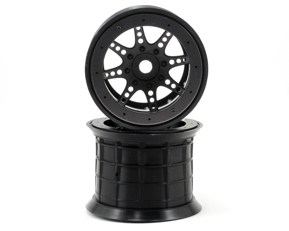 "Axial 8-Spoke 3.8"" Oversize Beadlock Monster Truck Wheel (2) (Black)"