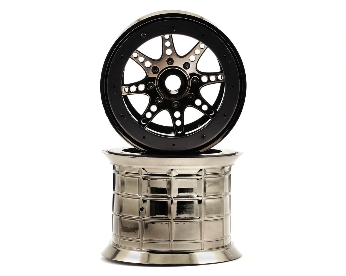 Axial Racing 8 Spoke Oversize Beadlock Monster Truck Wheel (2) (Black Chrome)