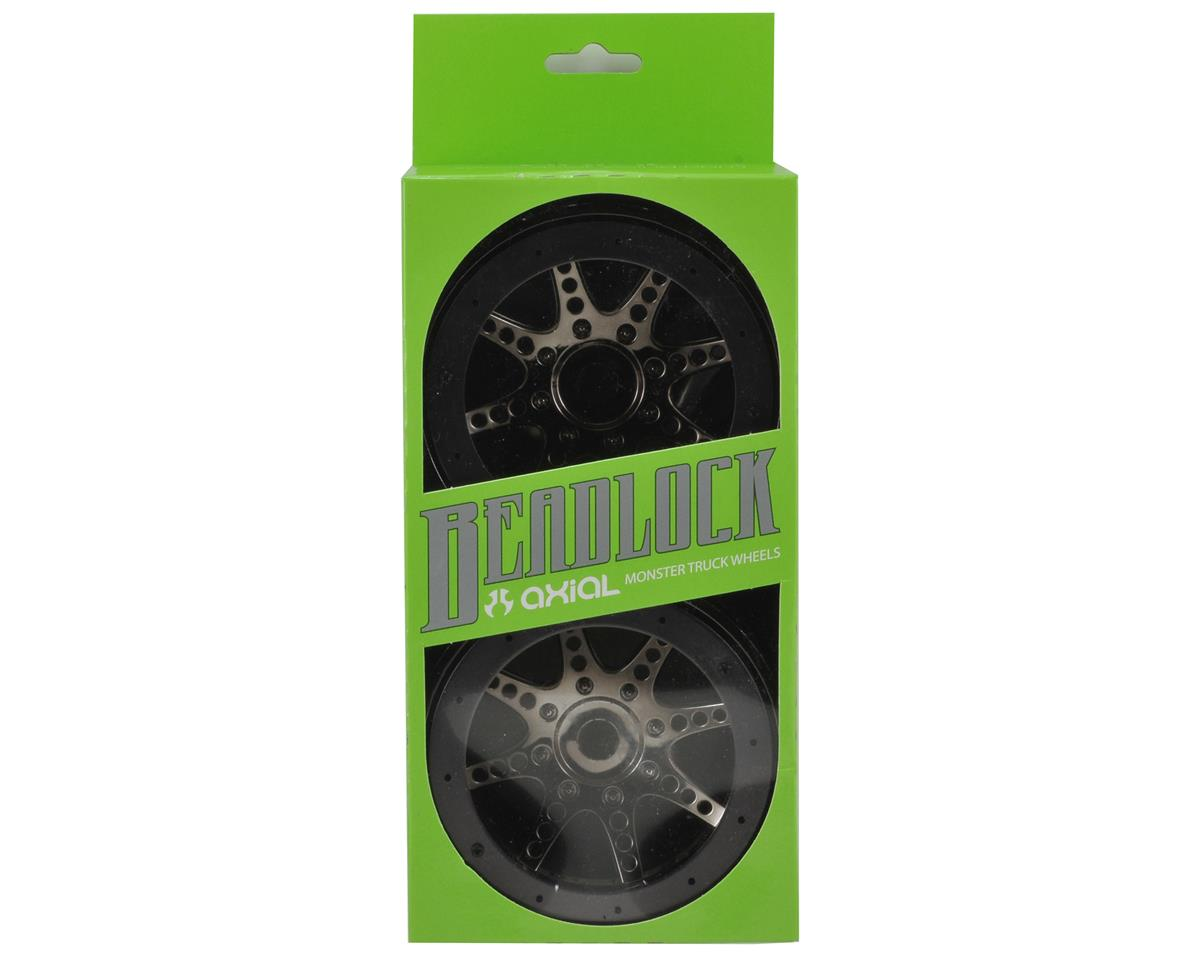 Axial Racing 8 Spoke Oversize Beadlock Monster Truck Wheel (2) (Black Chrome)