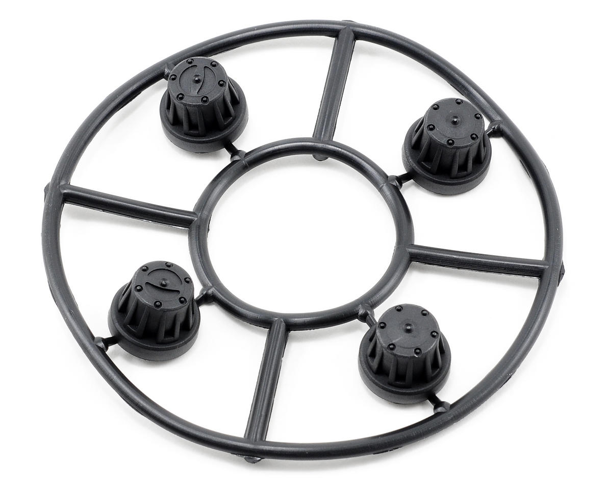 Axial Racing Hub Cover Set (Black) (4)