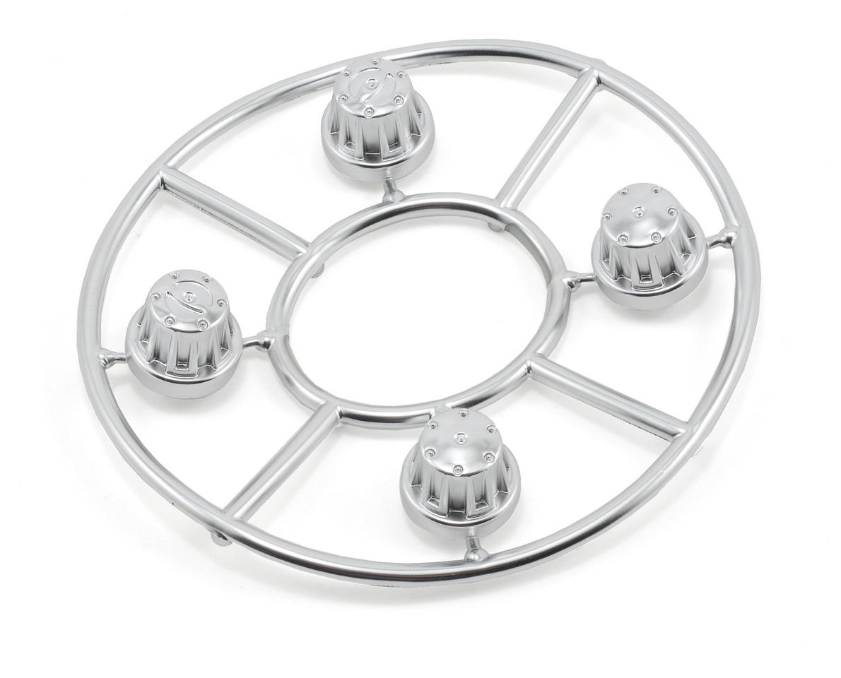 Axial Racing Hub Cover Set (Satin Chrome) (4)