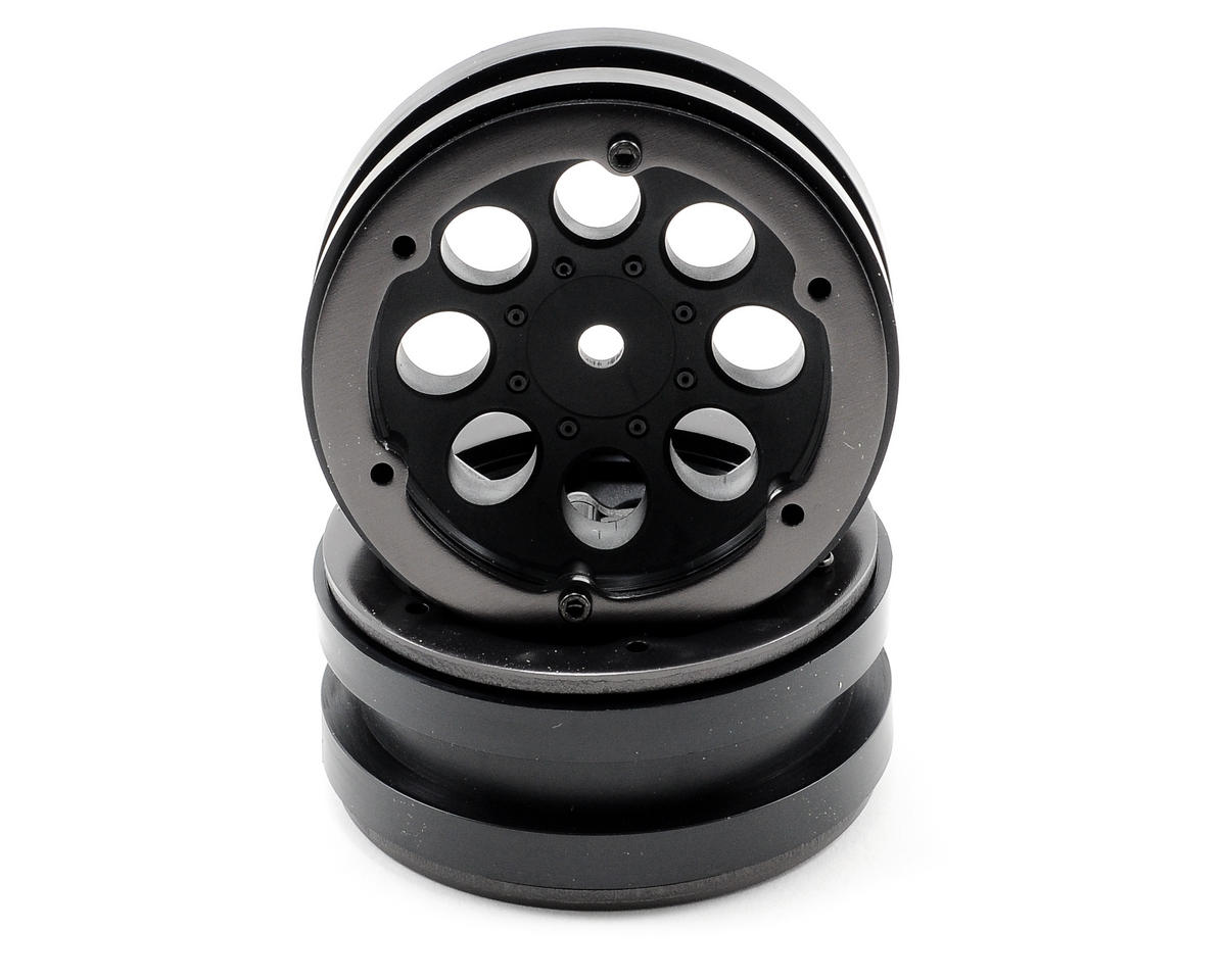 Axial 1.9 8 Hole Beadlock Wheels (Black) (2)