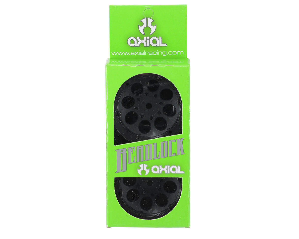 Axial Racing 1.9 8 Hole Beadlock Wheels (Black) (2)