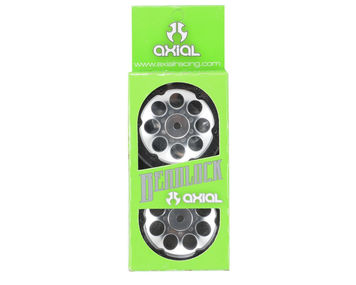 "Axial Racing 8 Hole Beadlock 1.9"" Rock Crawler Wheels (2) (Satin Chrome)"