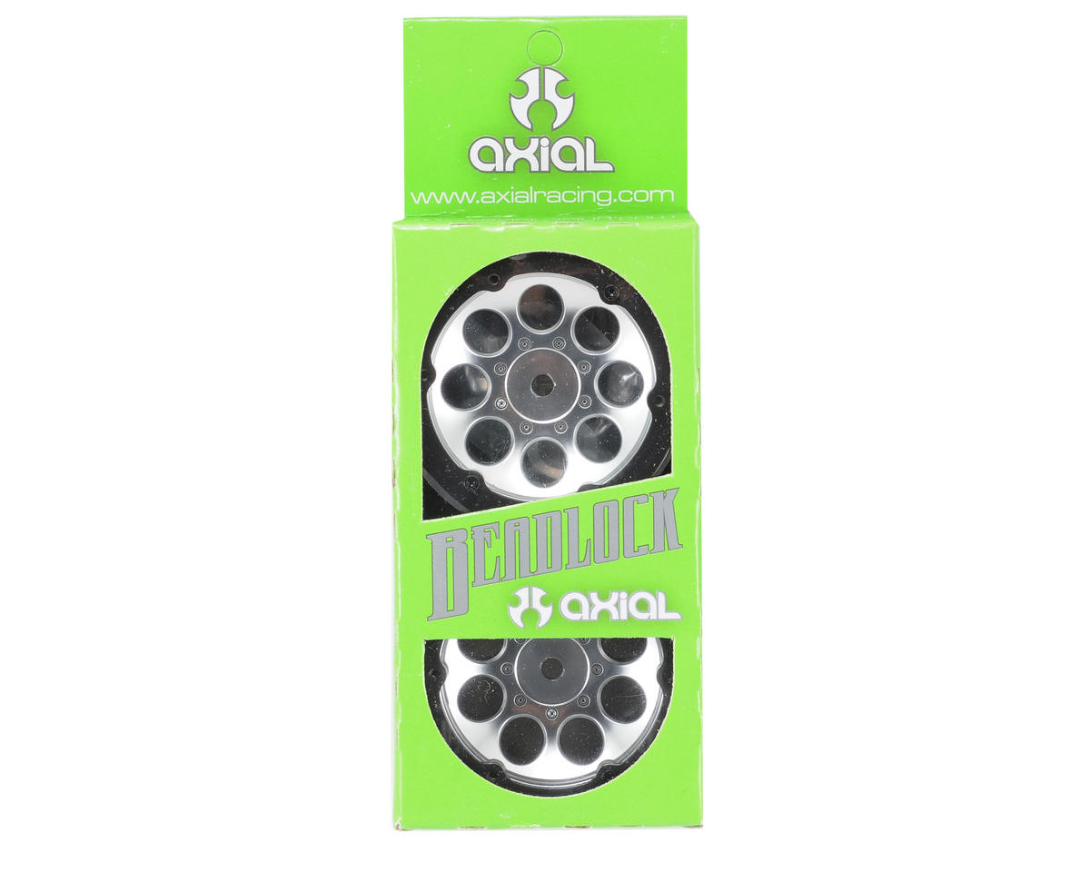 "8 Hole Beadlock 1.9"" Rock Crawler Wheels (2) (Satin Chrome) by Axial Racing"