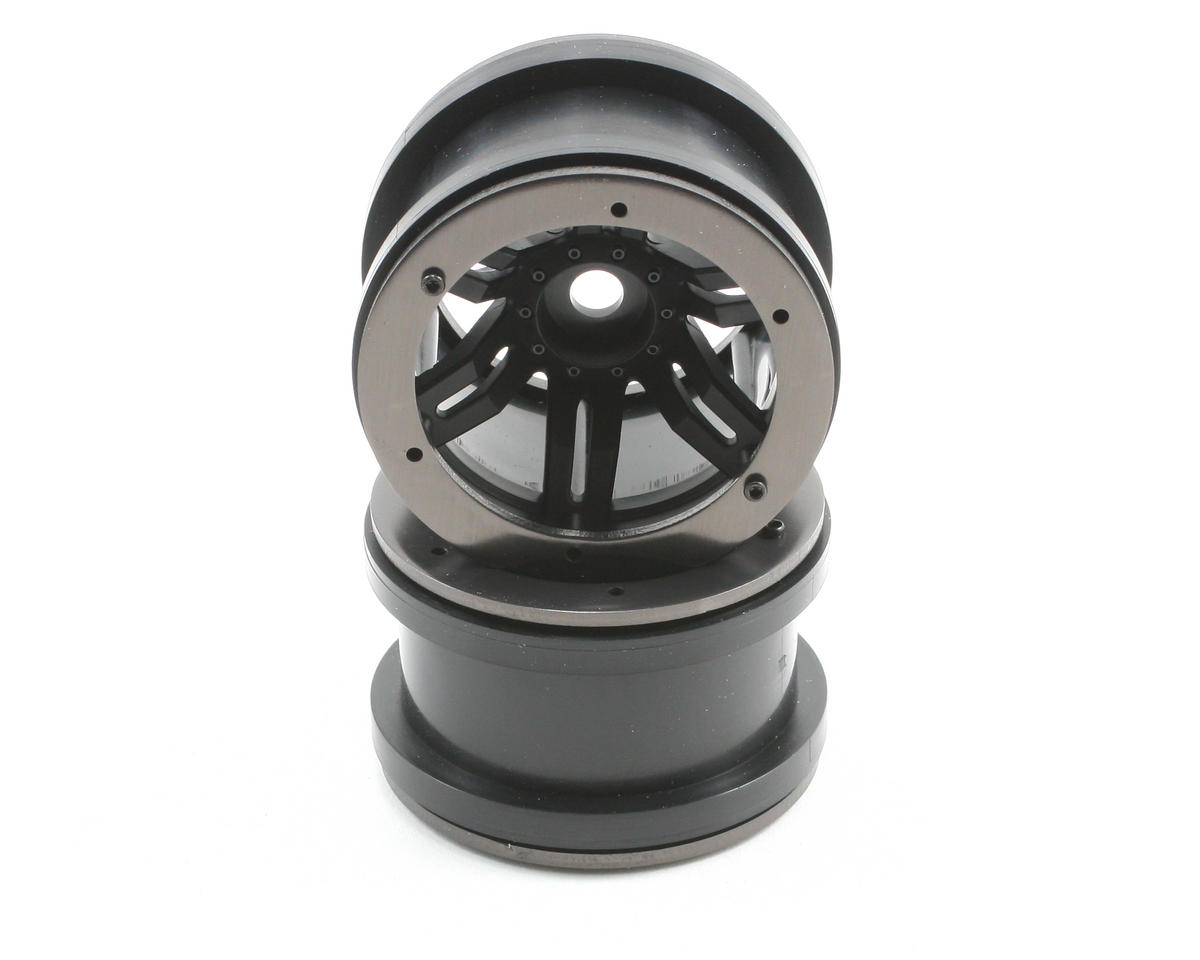"Rockster Beadlock 2.2"" Rock Cralwer Wheels (2) (Black) by Axial"
