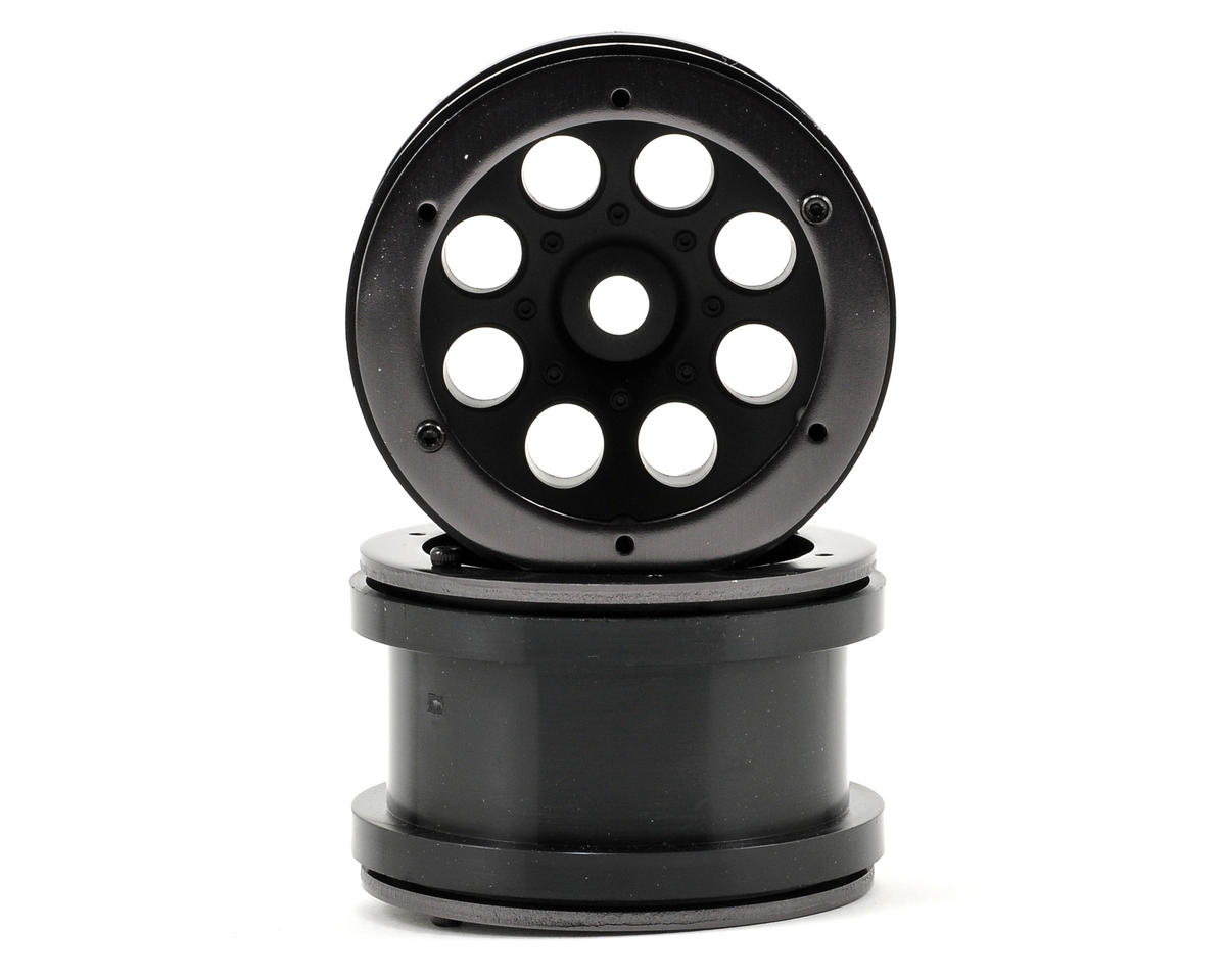 "8 Hole 2.2"" Beadlock Rock Crawler Wheels (2) (Black) by Axial"