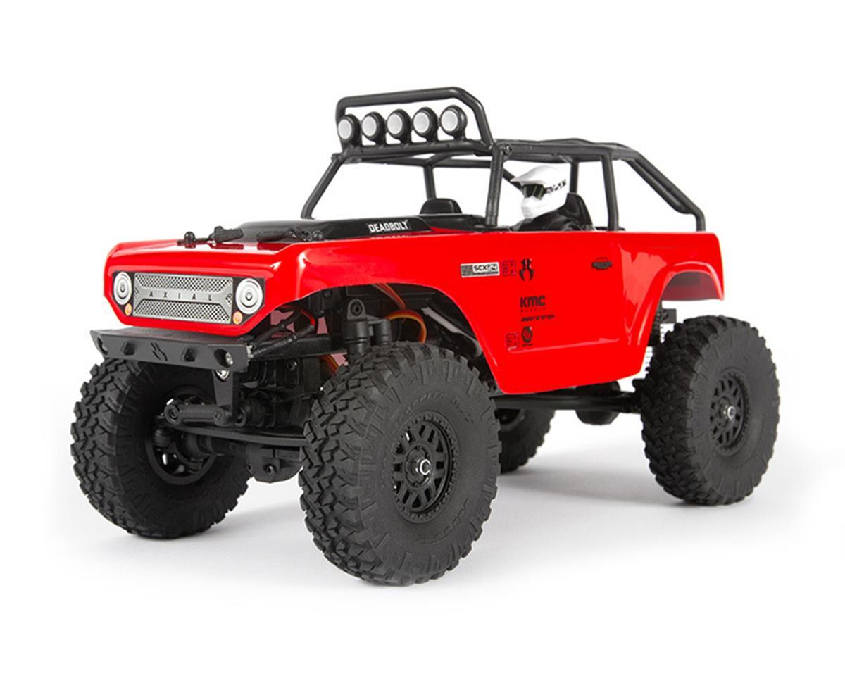 Axial SCX24 Deadbolt 1/24 RTR Scale Mini Crawler (Red) w/2 4GHz Radio