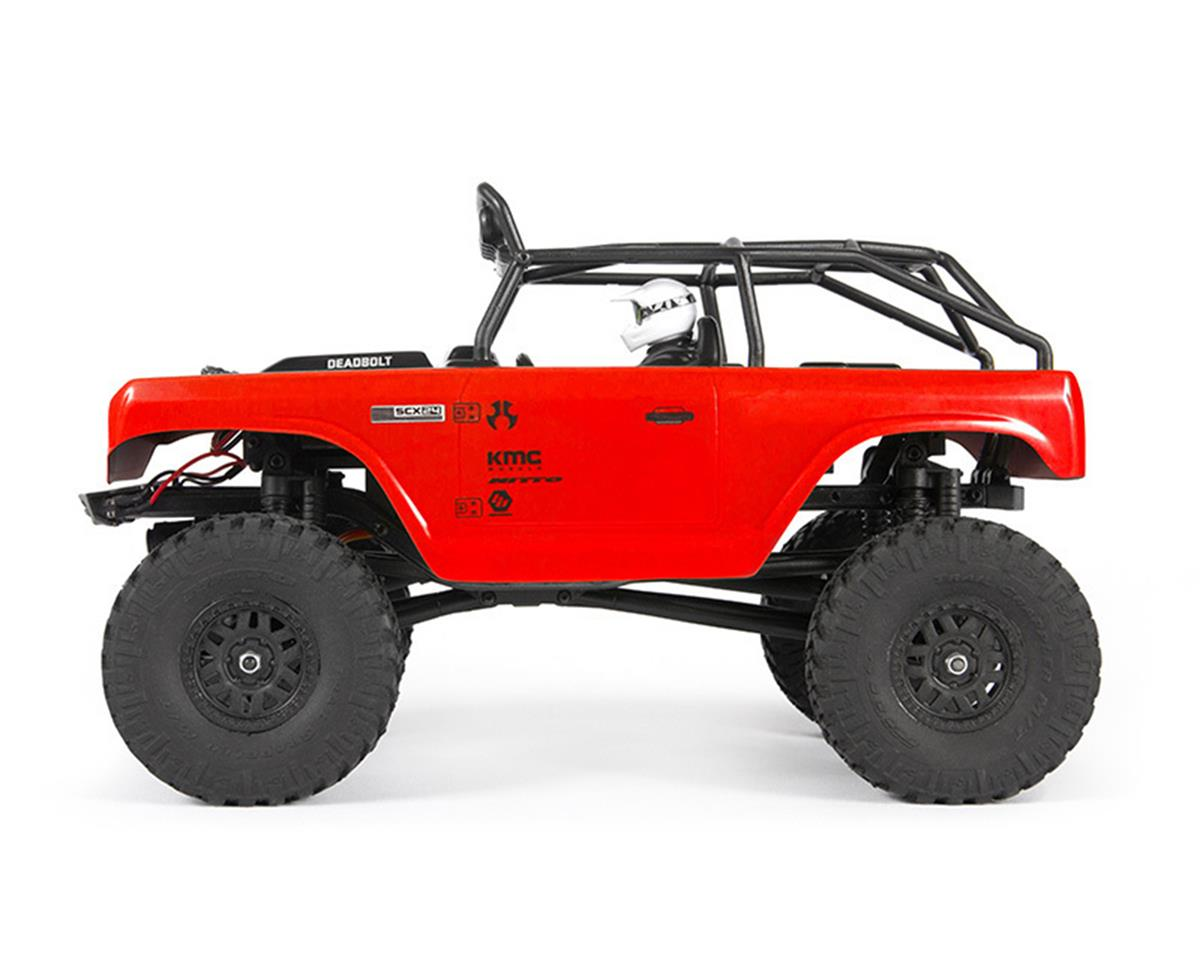 Axial SCX24 Deadbolt 1/24 RTR Scale Mini Crawler (Red)