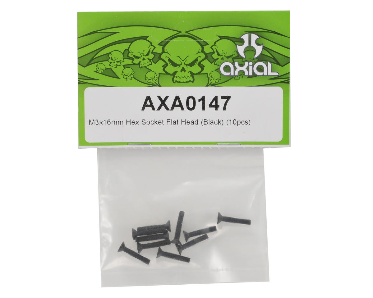 Axial Racing 3x16mm Flat Head Screw Set (10)