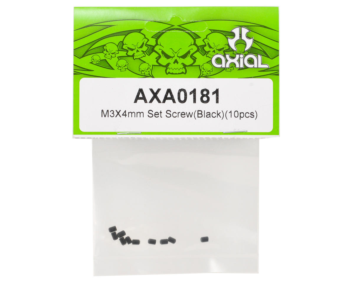 Axial Racing M3x4mm Set Screw (Black) (10)