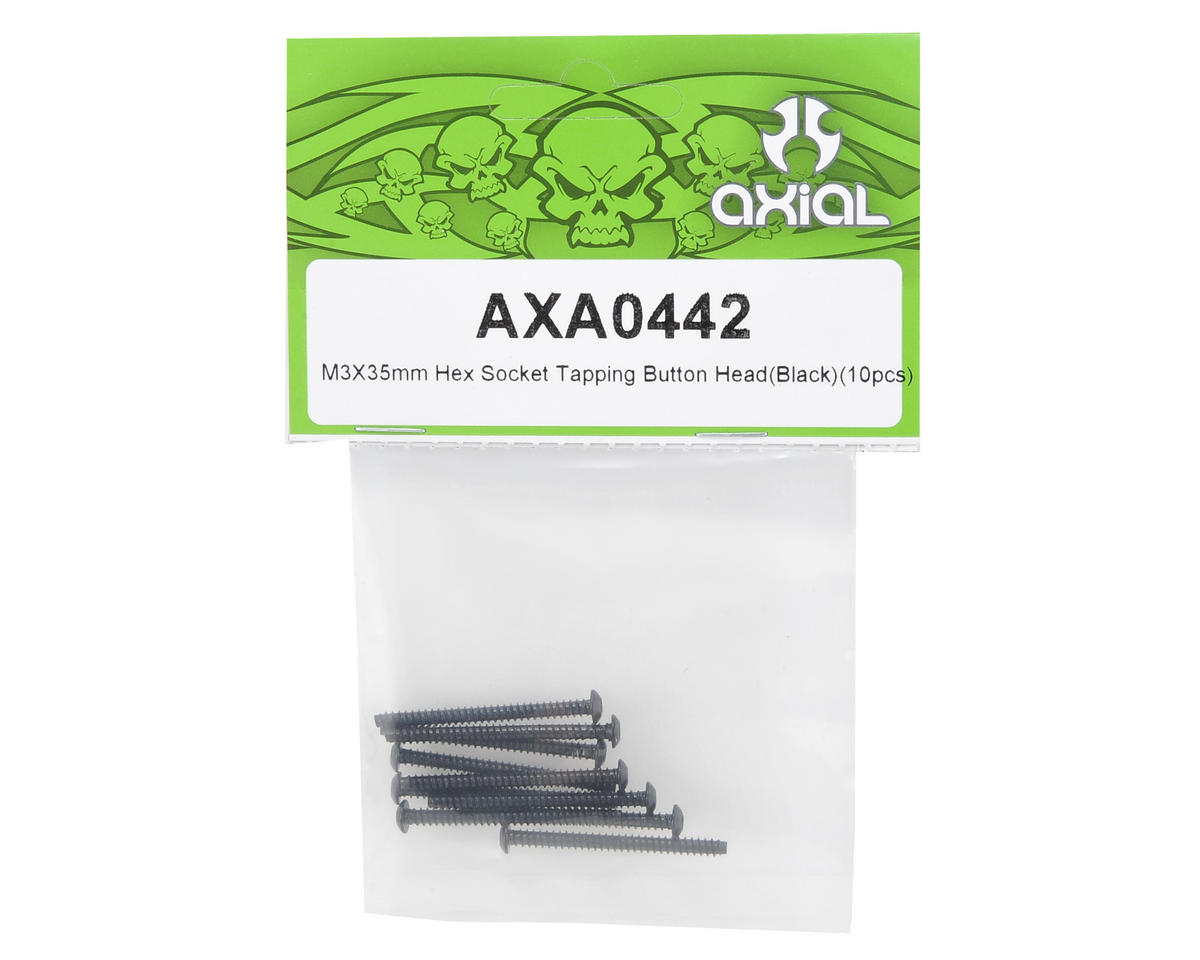 Axial Racing 3x35mm Self Tapping Button Head Screw (Black) (10)