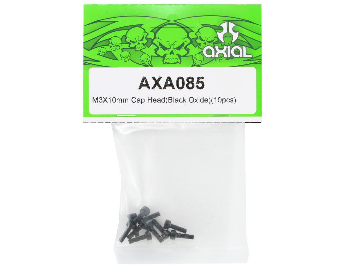 M3x10mm Cap Head Screws (10) by Axial Racing