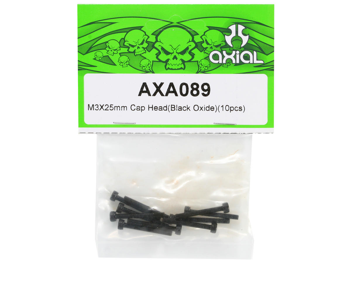 Axial Racing M3x25mm Cap Head Screws (10)