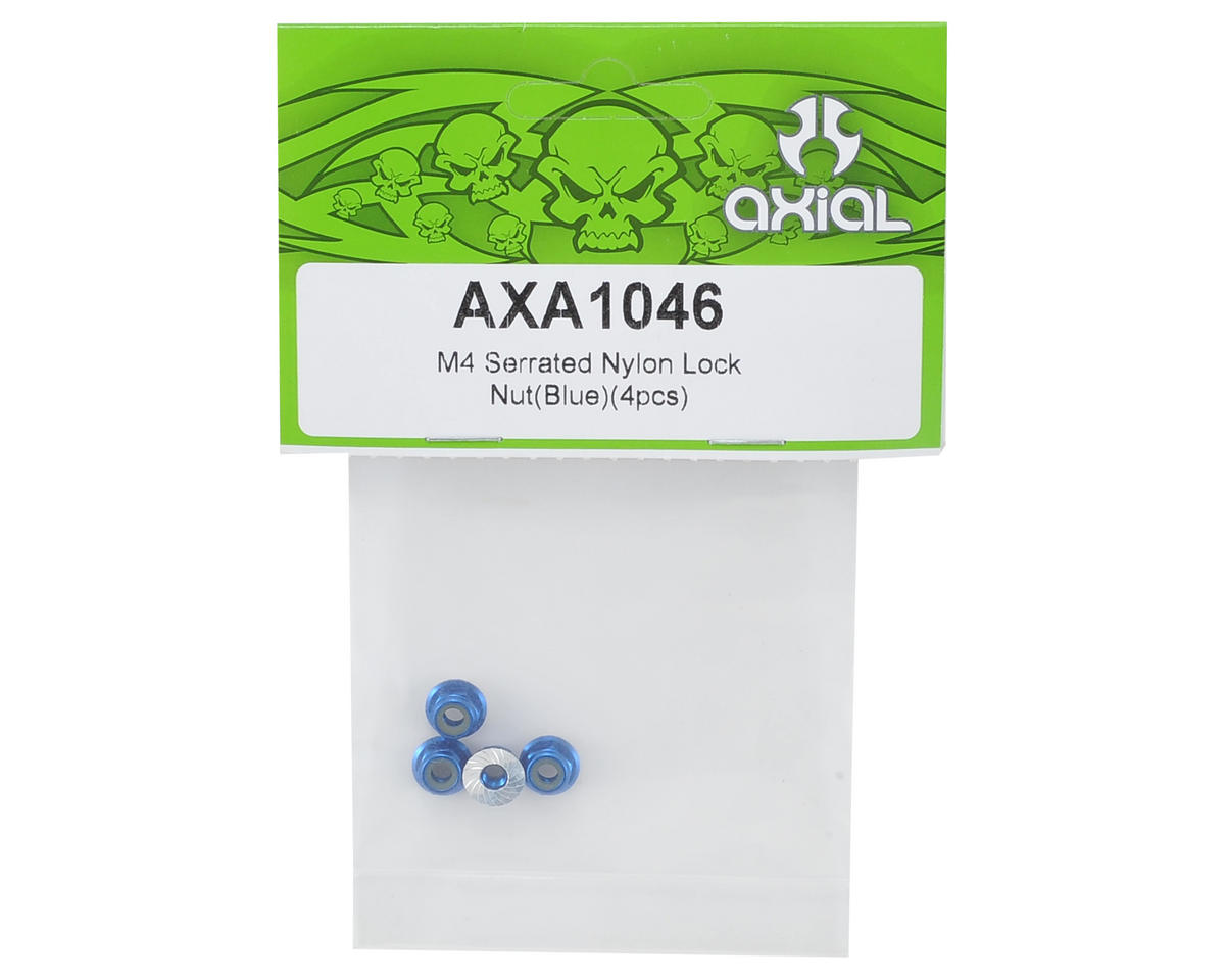 Axial Racing M4 Serrated Wheel Nut (Blue) (4)