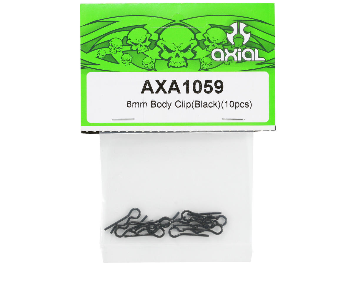 Axial 6mm Body Clip (Black) (10)
