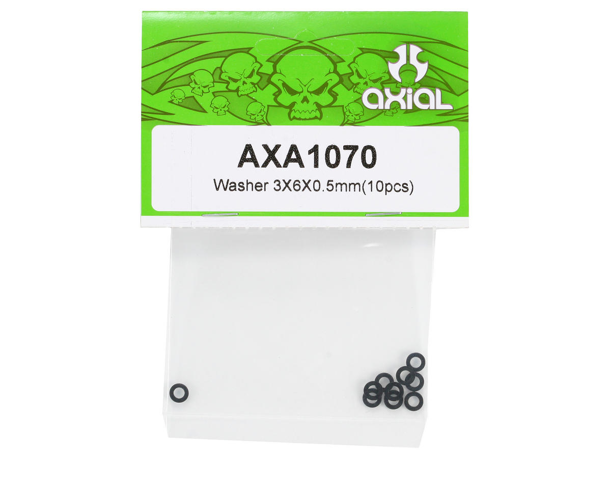 Axial Washer 3x6x0.5mm (10)