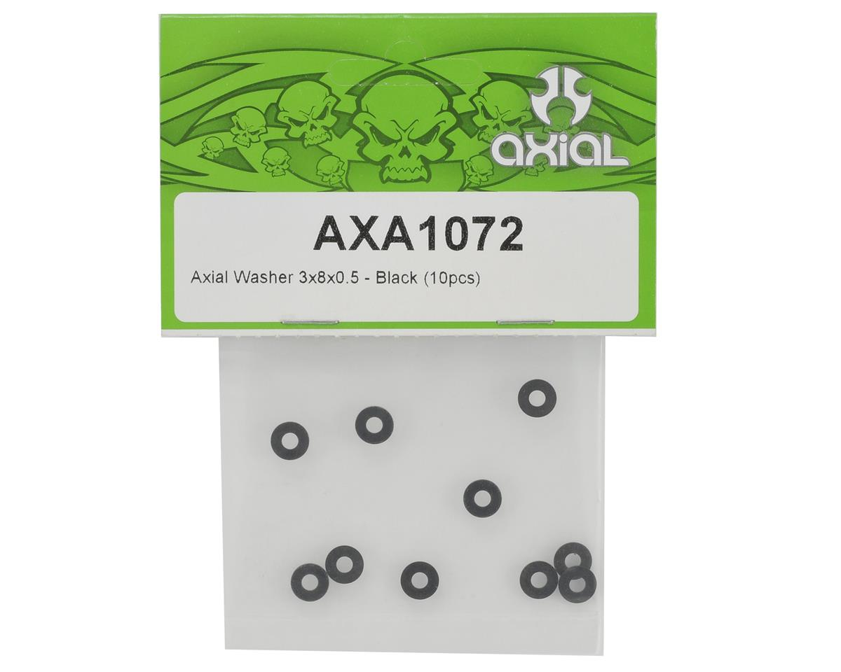 Axial Racing 3x8x0.5mm Washer (Black) (10)
